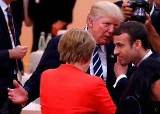 Трамп, Меркель, МАкрон