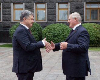 Порошенко, Лукашенко