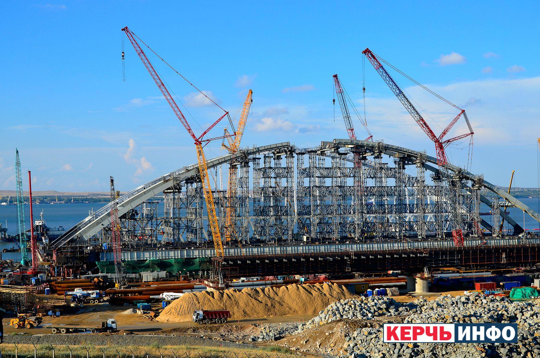 Строительство оккупантами Керченского моста