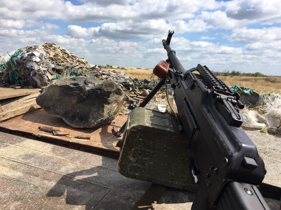 Пулемет сил АТО на Донбассе