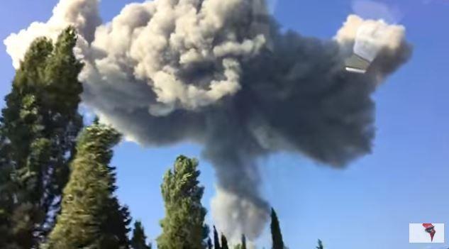 Взрыв боеприпасов на складах в Абхазии.