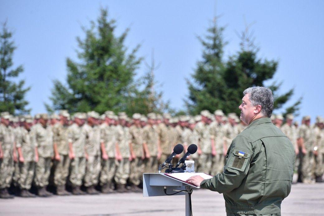 Порошенко, армия, ВСУ, военные