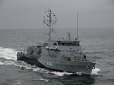 Минный тральщик ВМС Германии
