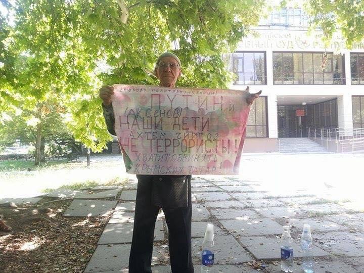 Оккупанты бросили за решетку 76-летнего активиста