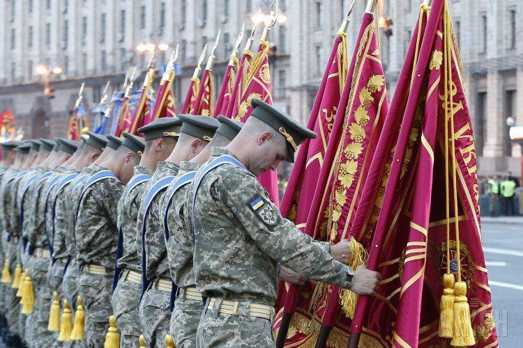 Репетиция военного парада в Киеве, иллюстрация