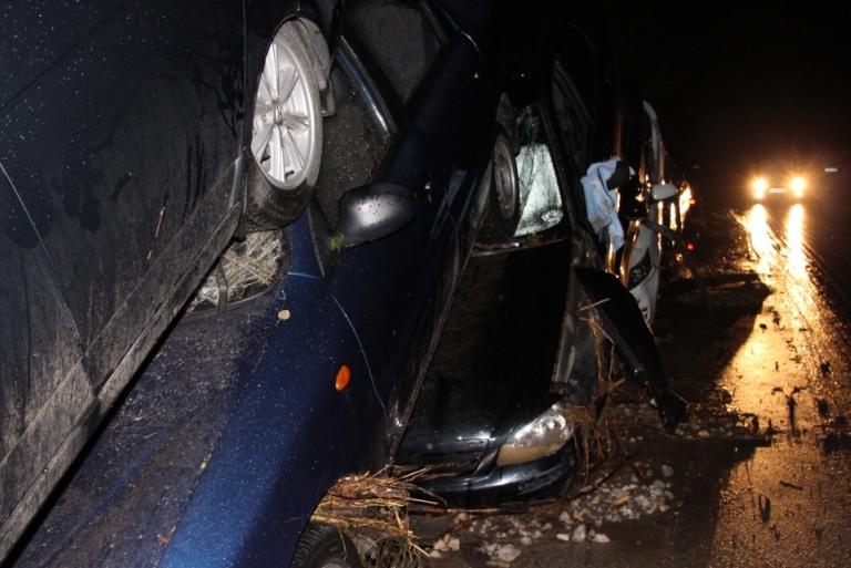 Поврежденные авто у Дачного