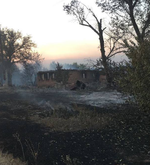 Последствия пожара в населенном пункте