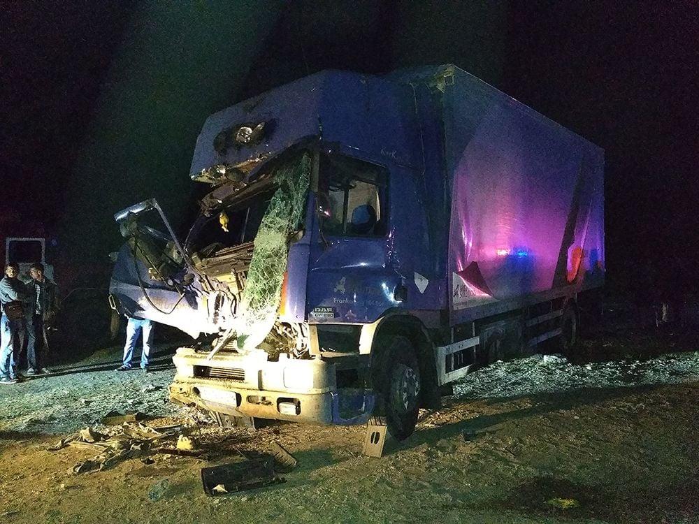 ДТП на Николаевщине. В результате столкновения трех грузовиков есть погибший и пострадавший