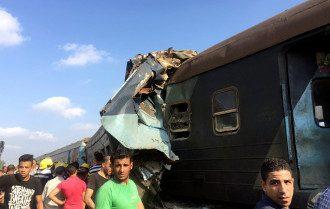 Последствия столкновения поездов в Египте, иллюстрация