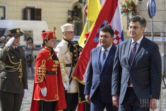 Владимир Гройсман и Андрей Пленкович в Загребе