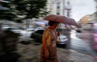 Дождь в столице, иллюстрация