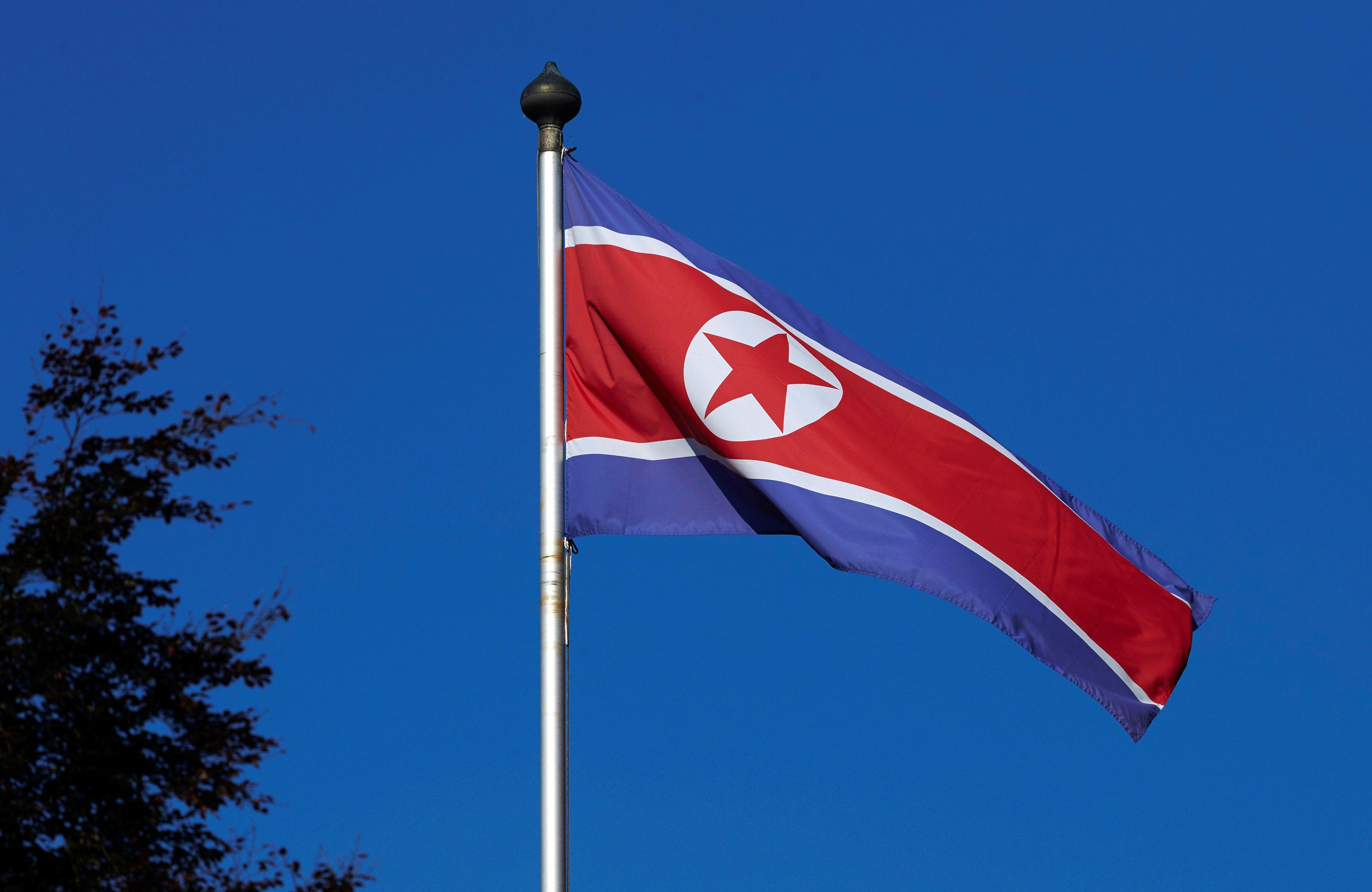 Флаг Северной Кореи, иллюстрация