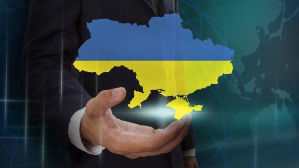 Украина, карта, рука