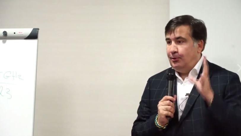 Михеил Саакашвили в Кракове.