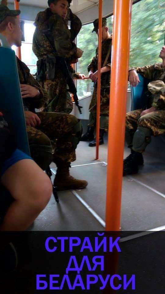 Неизвестные вооруженные люди в Витебске