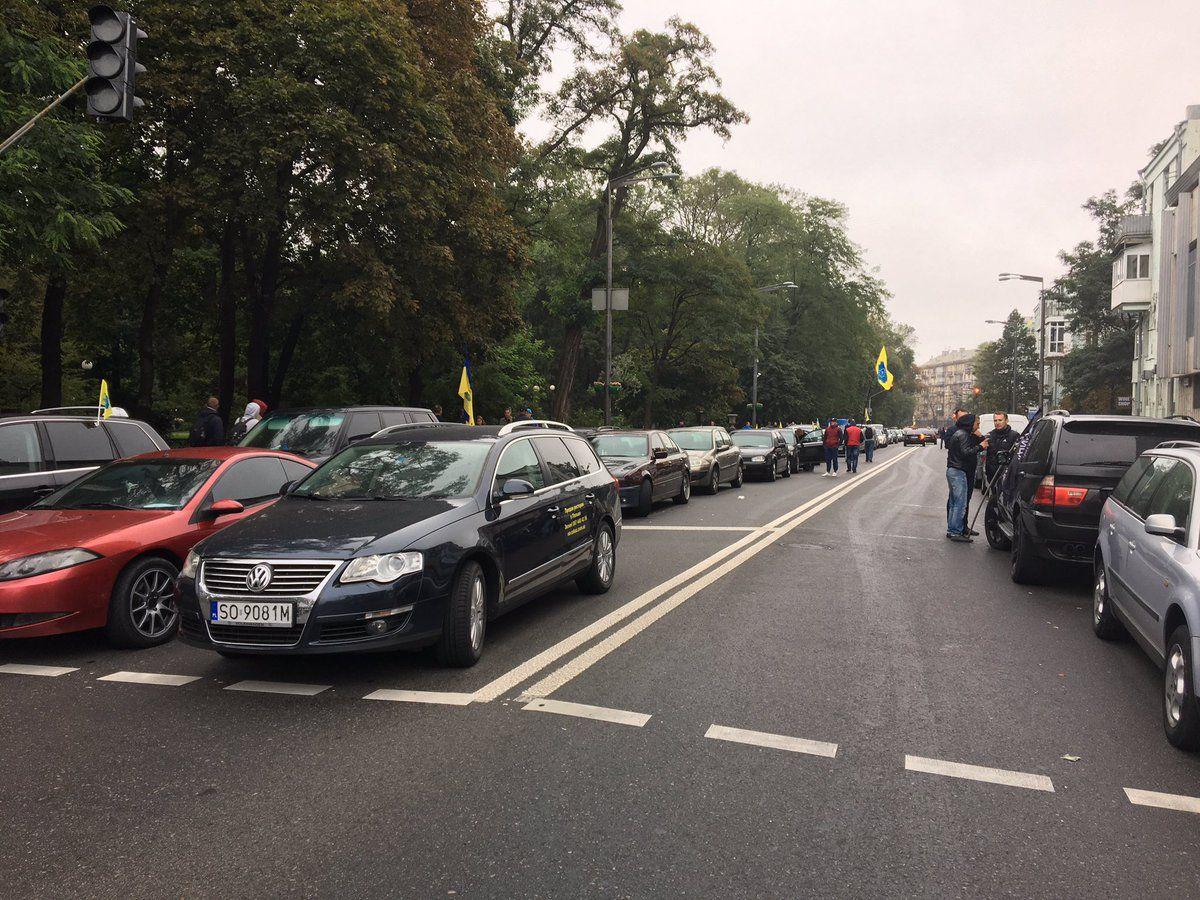 Протест в правительственном квартале в Киеве