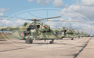 Российские вертолеты Ми-8.