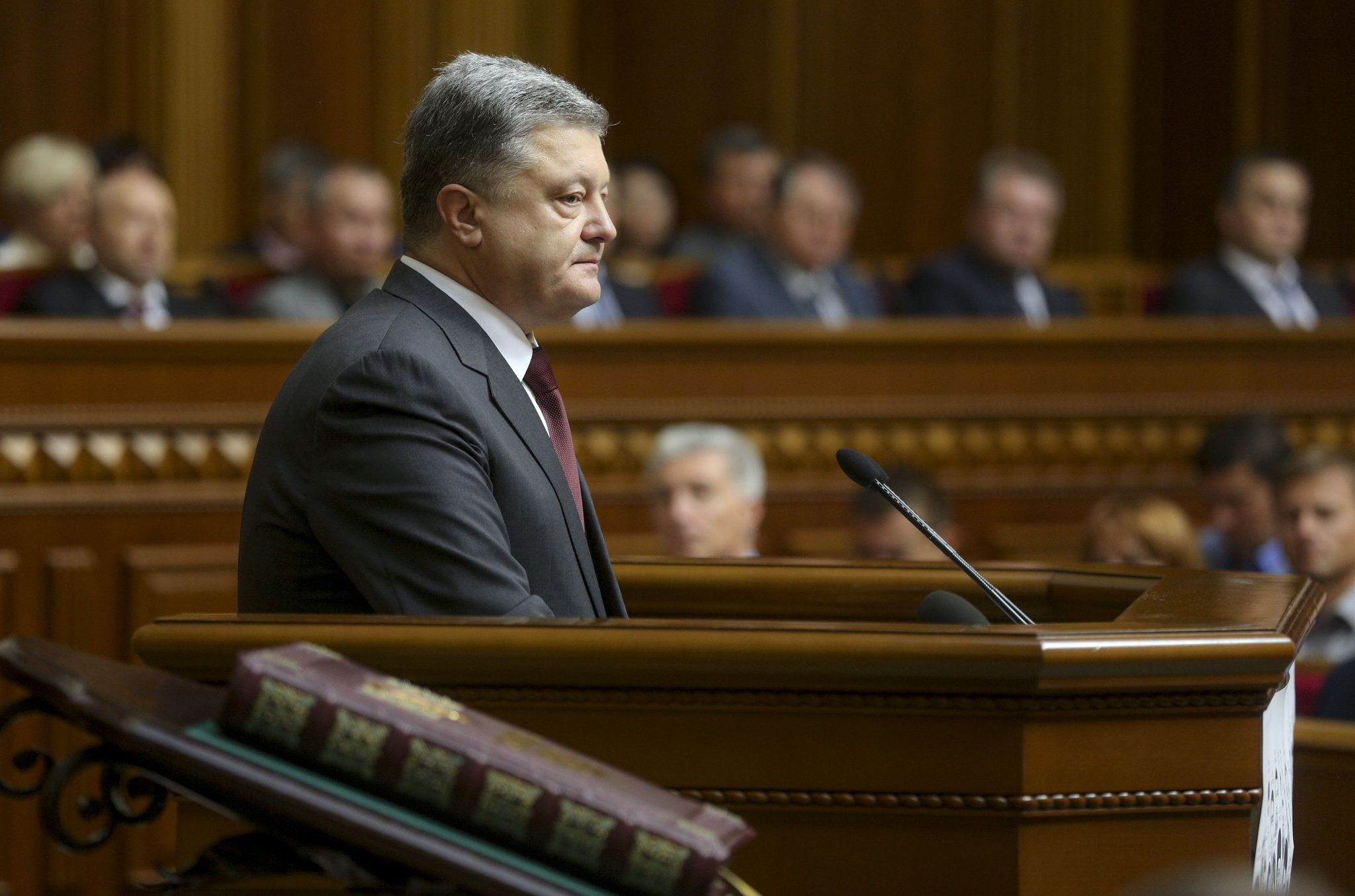 Петр Порошенко в Верховной Раде.
