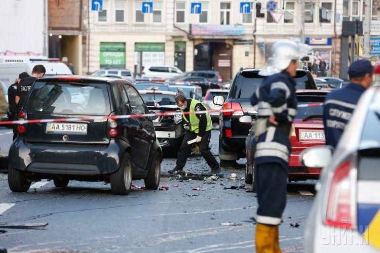 Последствия взрыва авто, иллюстрация