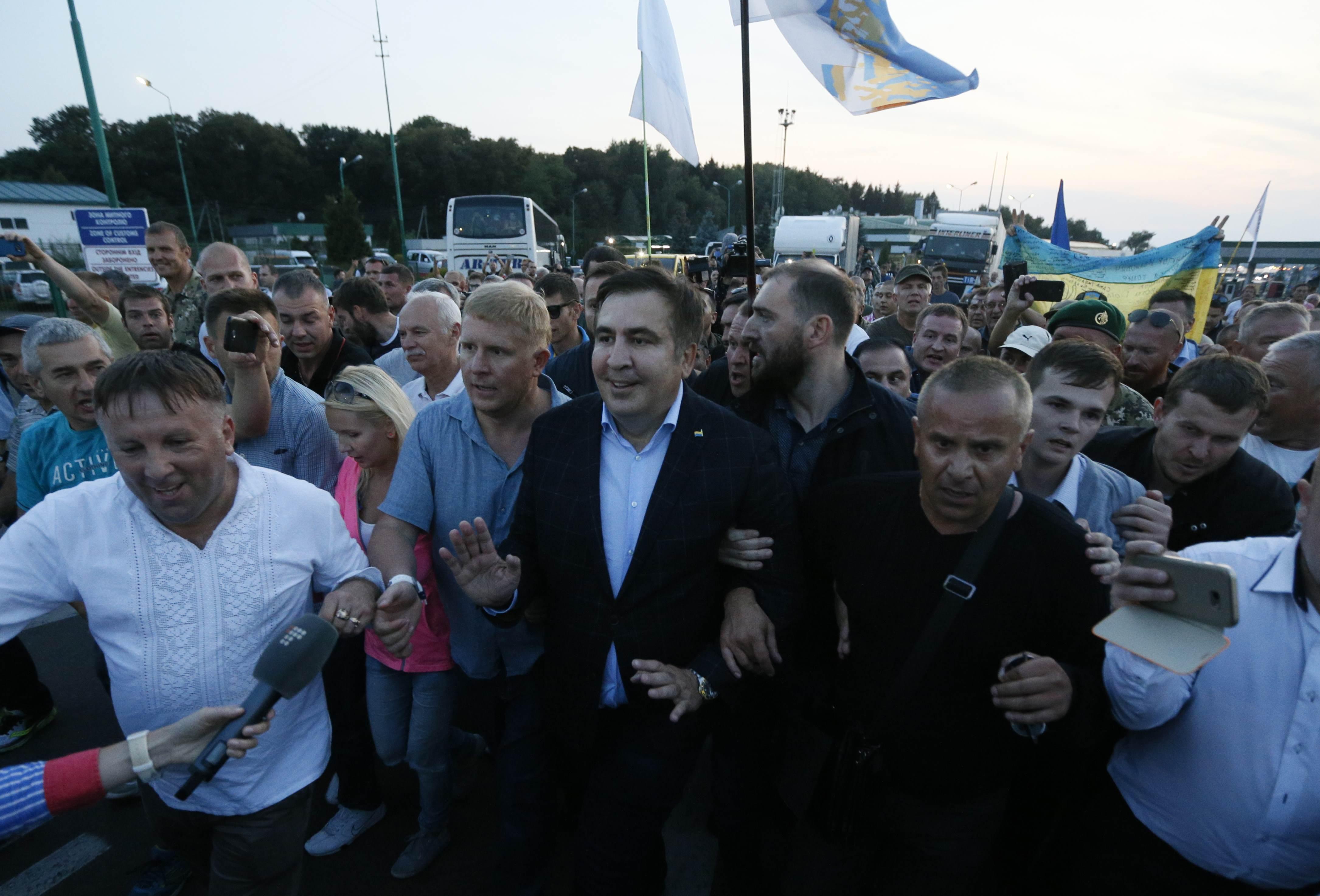 Прорыв Саакашвили в Украину