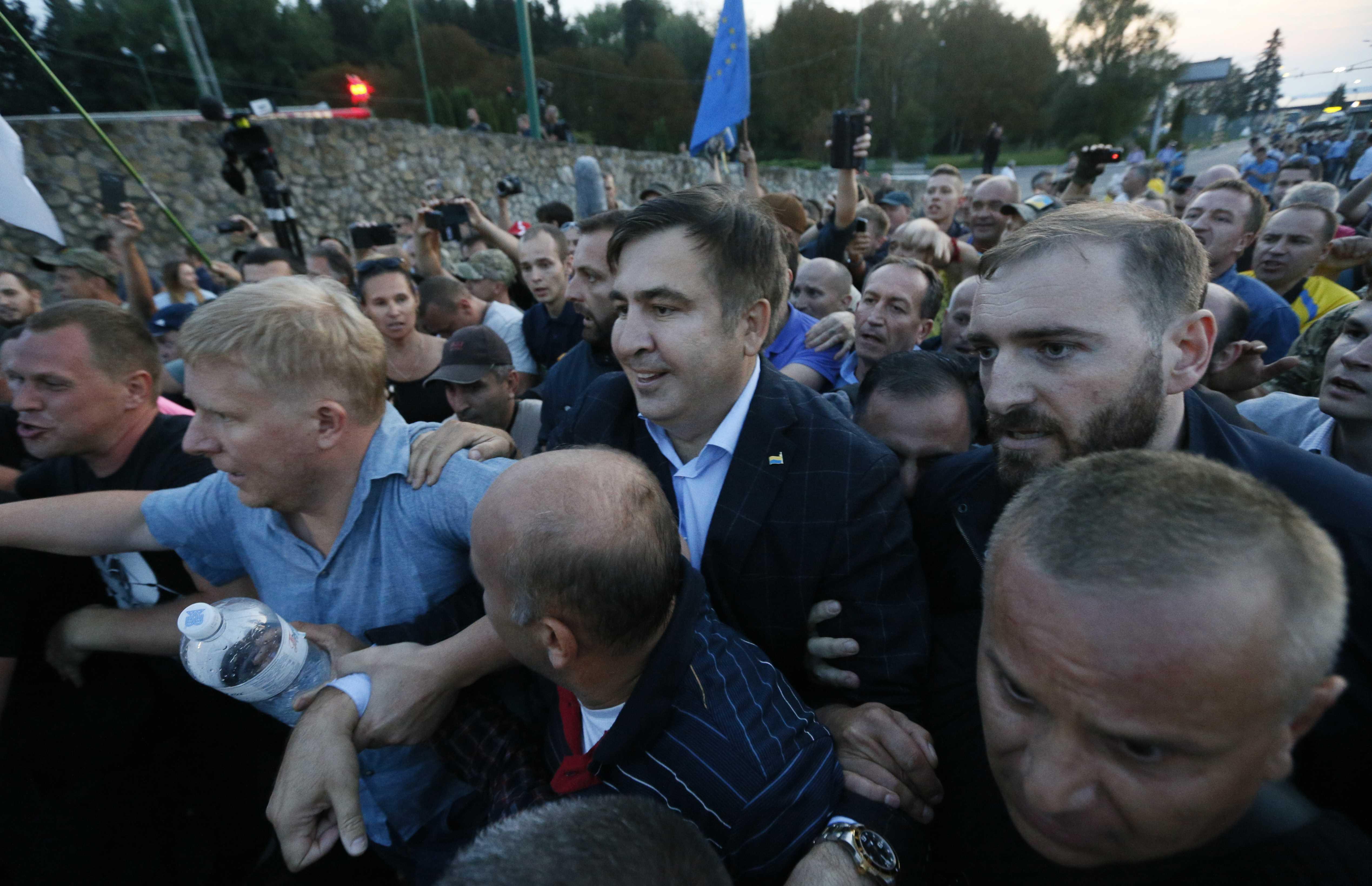 Прорыв границы Саакашвили