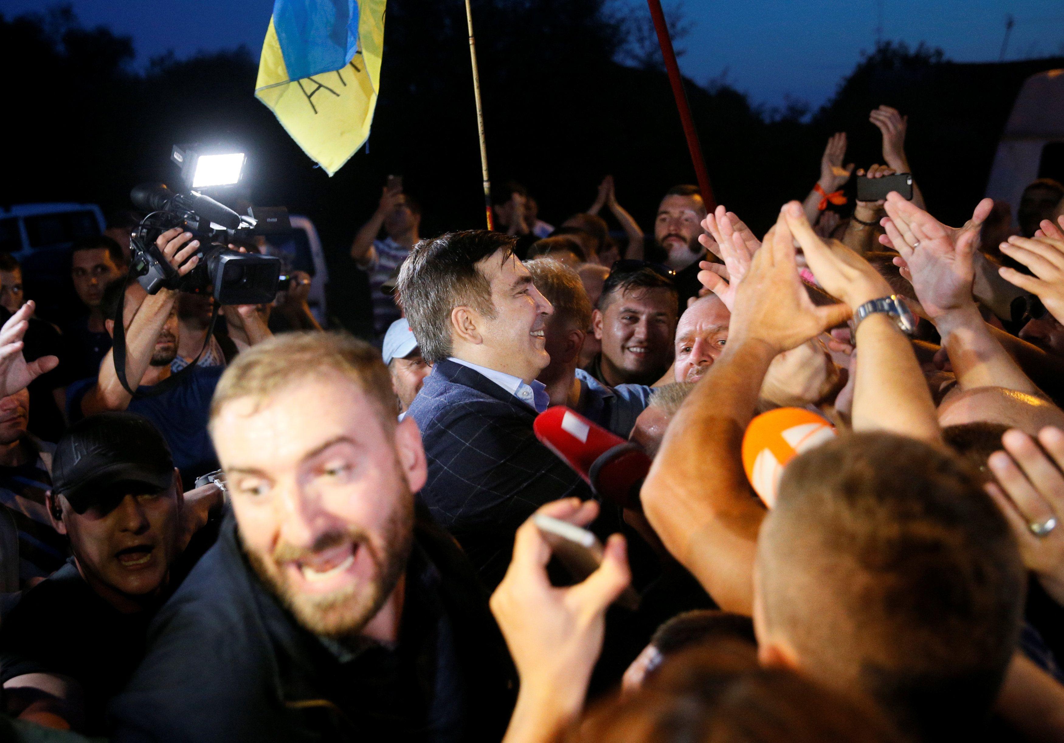 Прорыв границы сторонниками Саакашвили