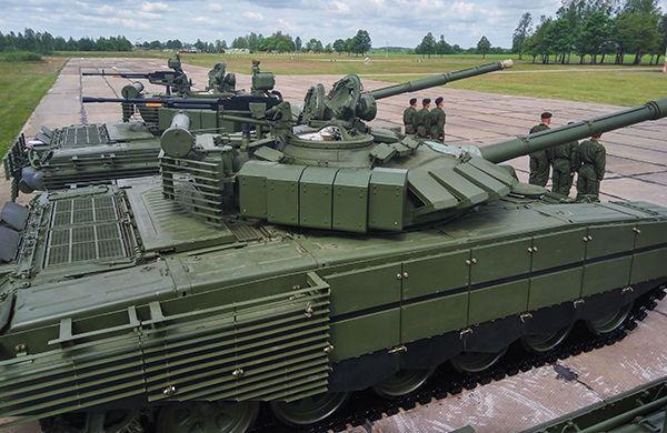 Модернизированные Т-72Б3 призводства НПК