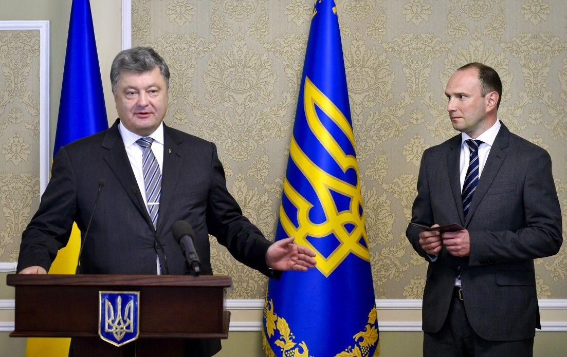 Петр Порошенко и Егор Божко.