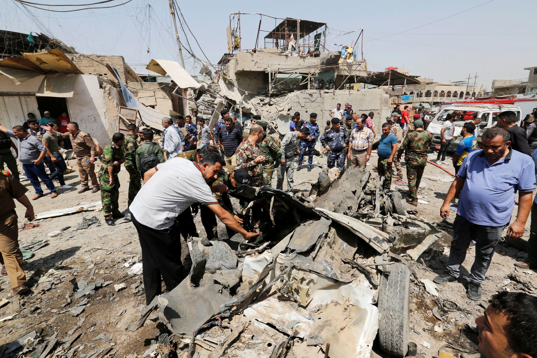 Разрушения в Ираке, иллюстрация