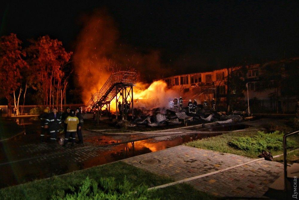 Пожар в лагере в Одесской области