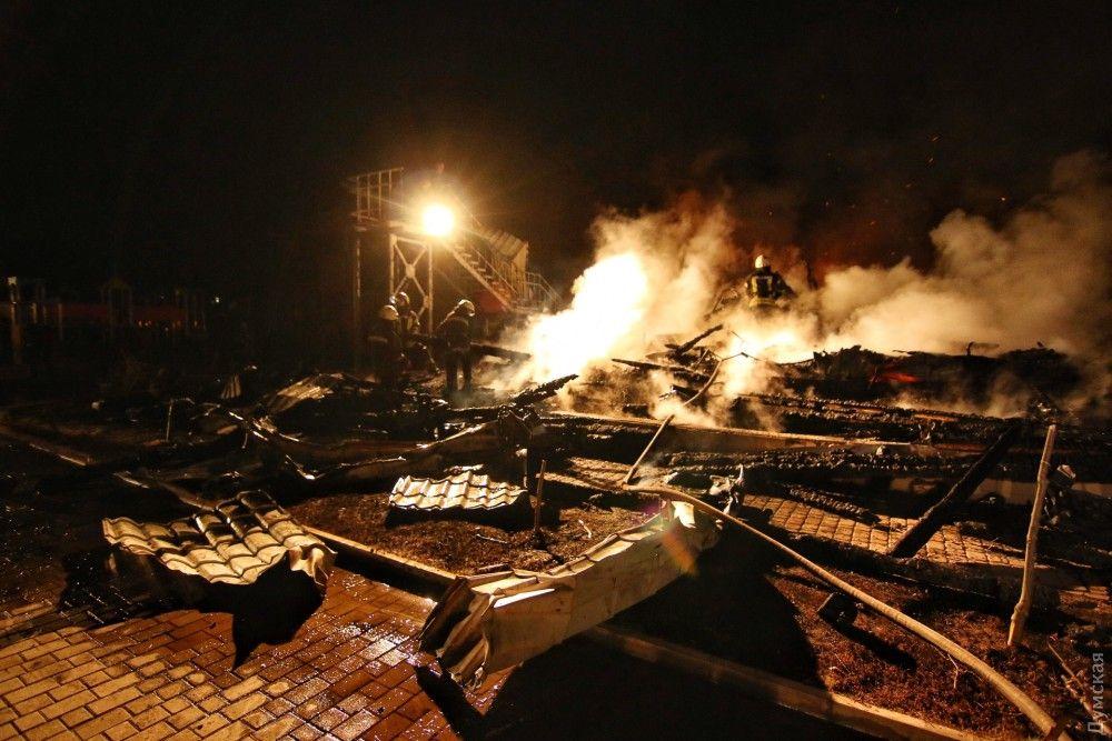 Пожар в детском лагере в Одесской области