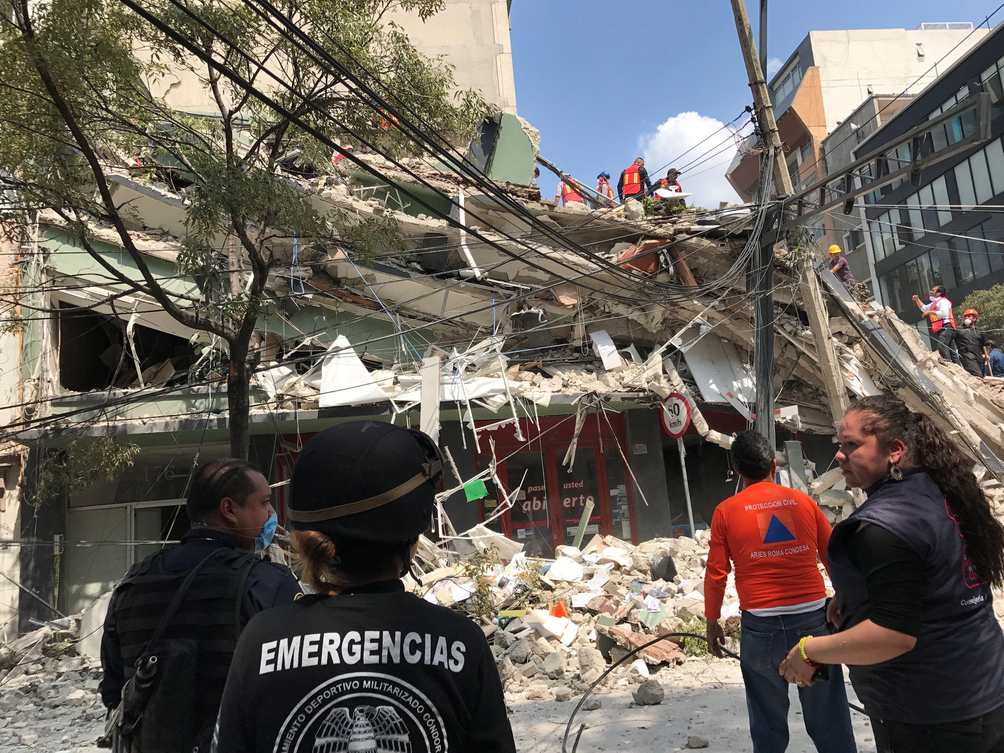 Последствия землетрясения в Мексике, иллюстрация