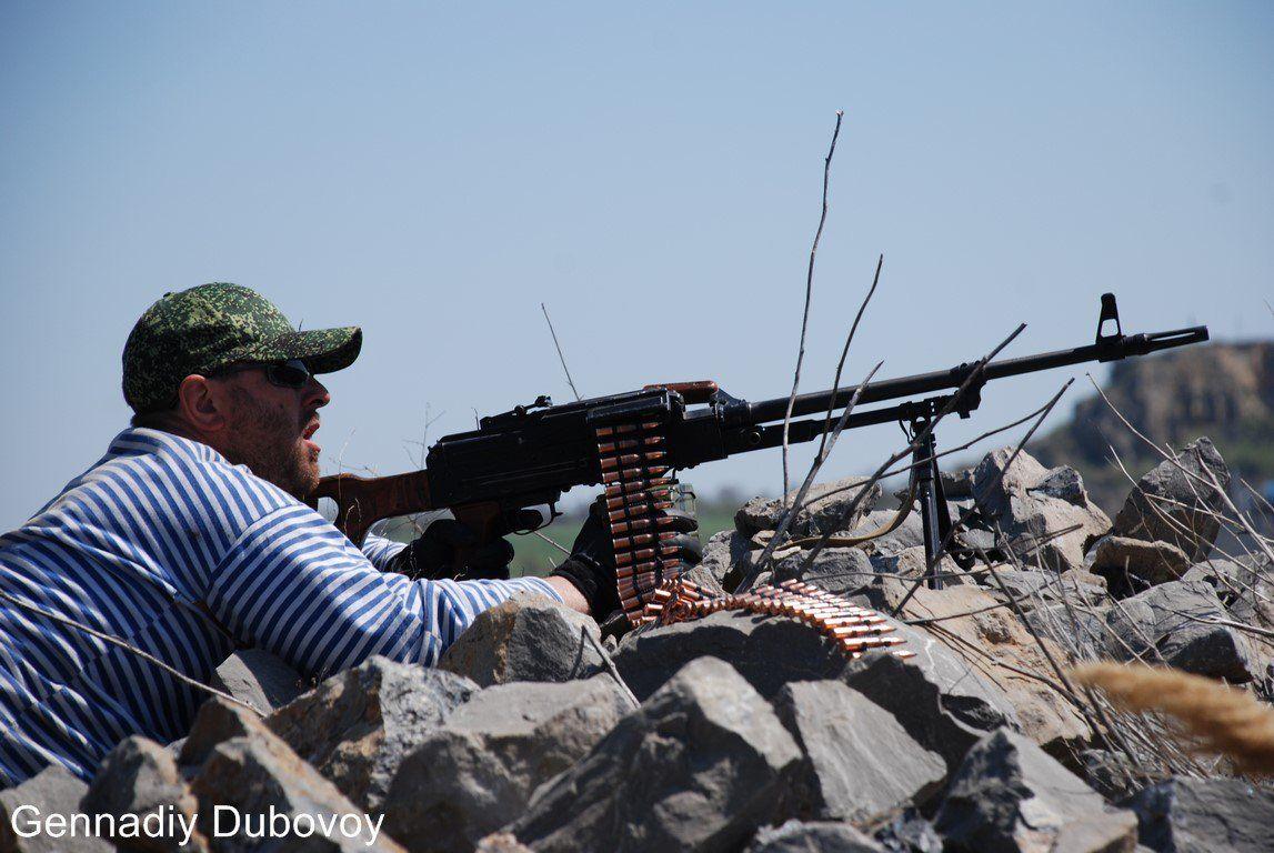 Боевик у пулемета, иллюстрация