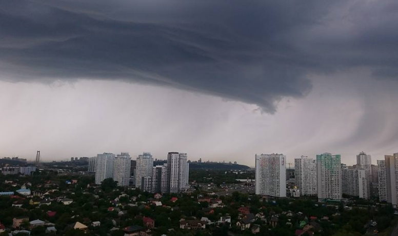 В Киеве во вторник будет гроза и шквалы, спрогнозировали в Укргидрометцентре