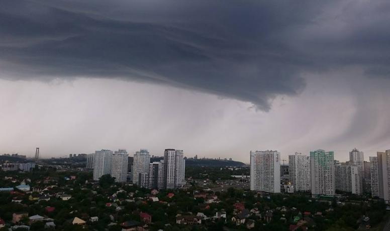 Киев,ливень,непогода