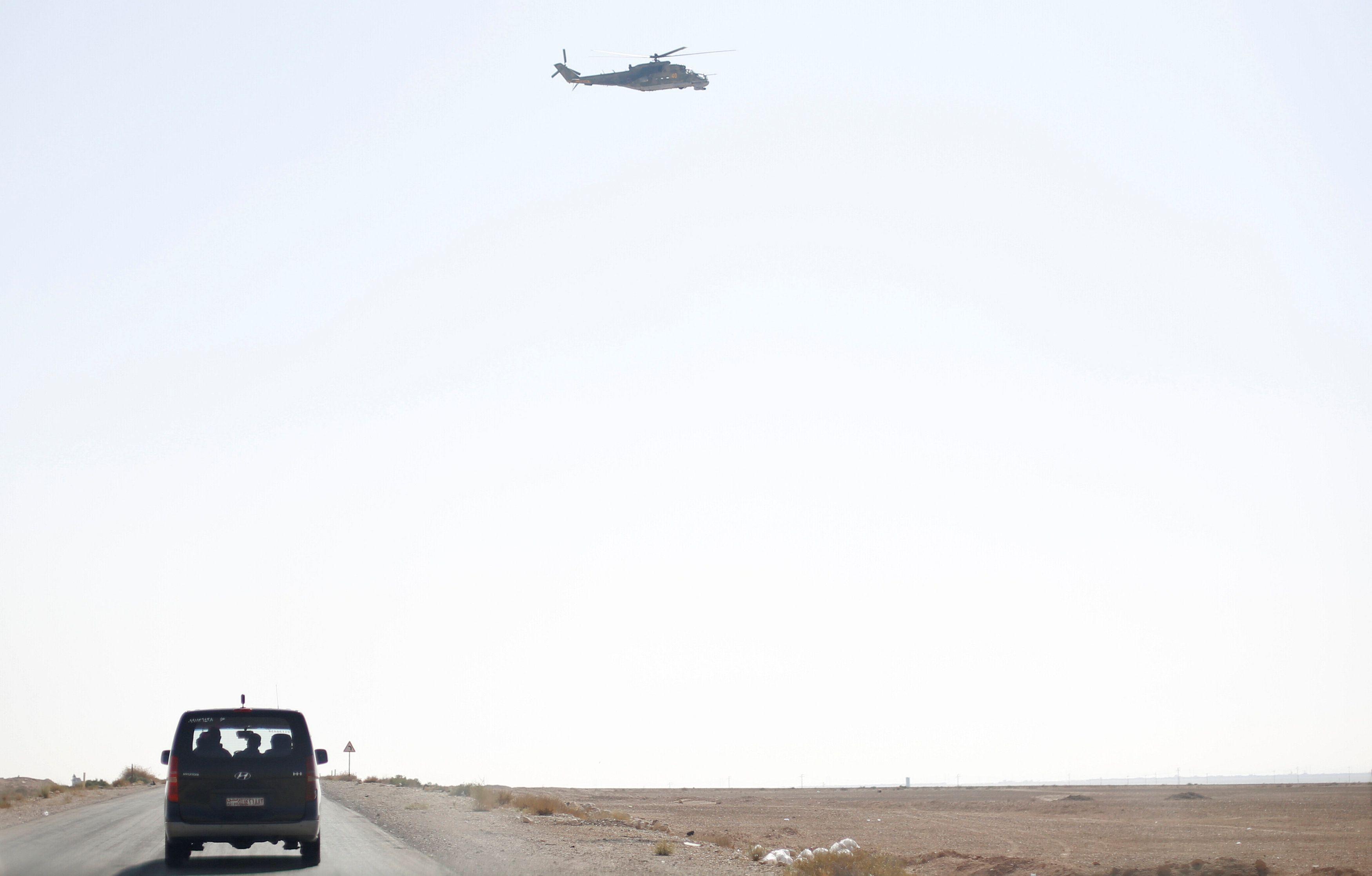 Российский вертолет в Сирии.