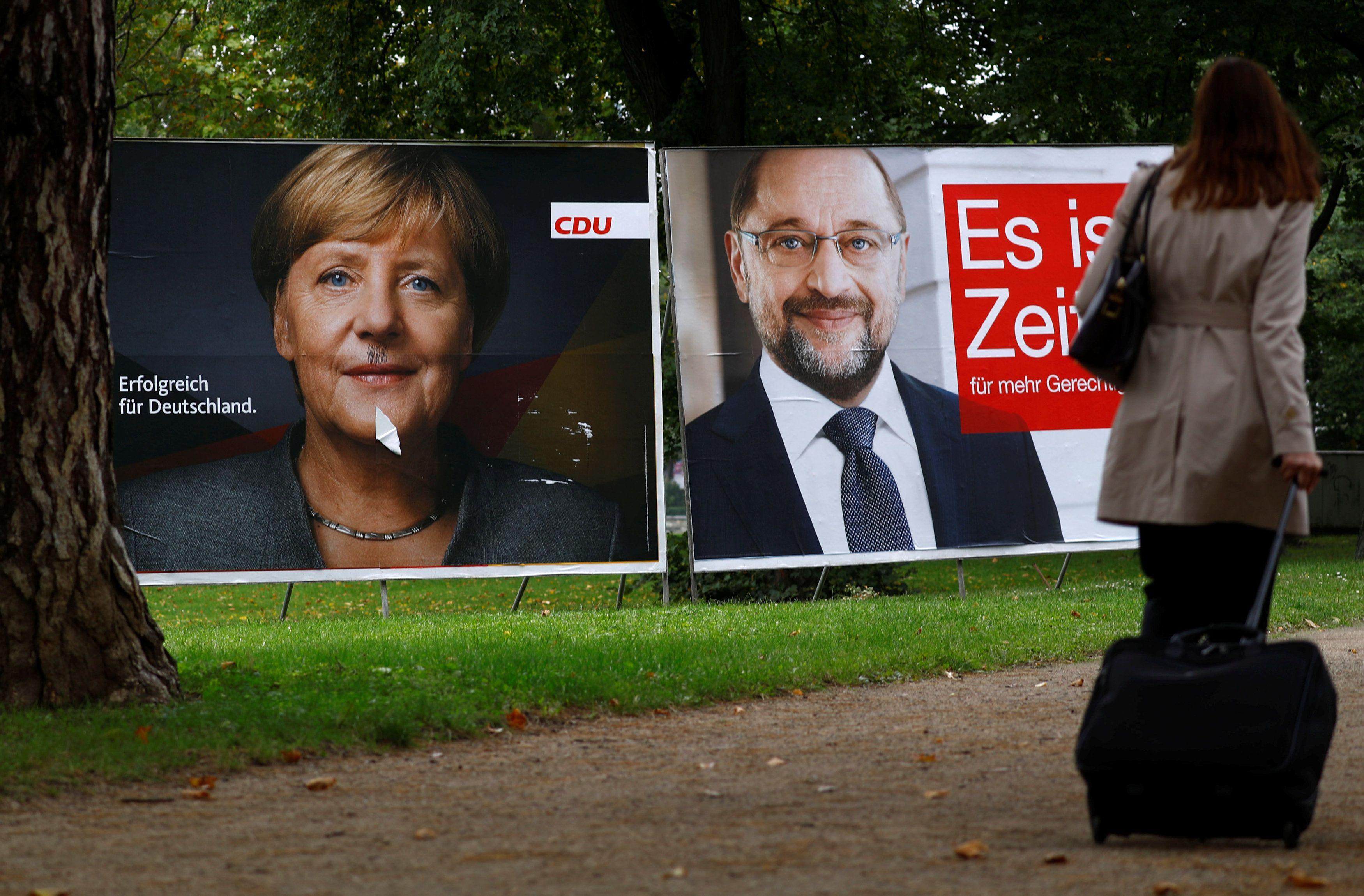 Меркель и Шульц — главные соперники на выборах.
