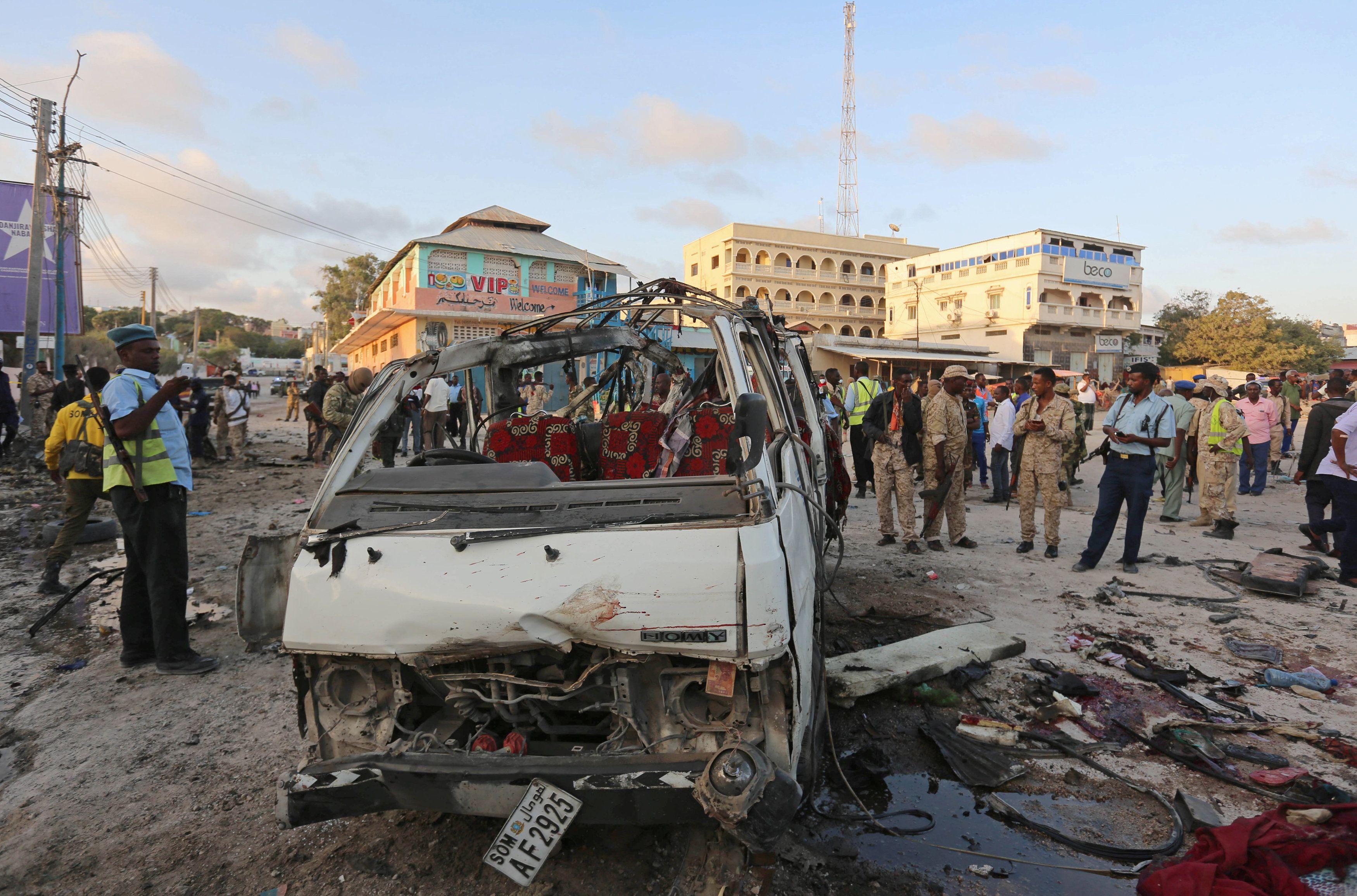 Взорванное авто в Сомали, иллюстрация
