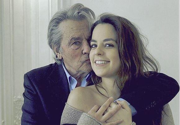 Ален Делон с дочерью Анушкой