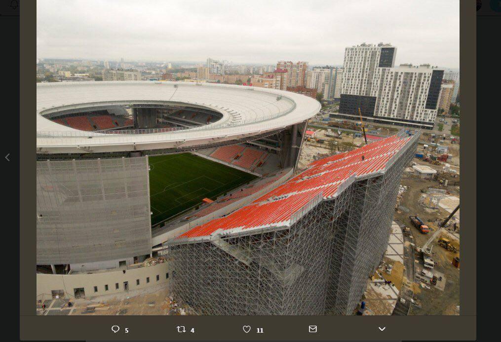 Новый стадион в Екатеринбурге