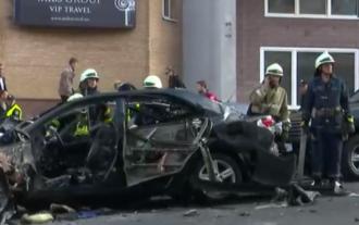 Взрыв авто на Бессарабке в Киеве, иллюстрация.