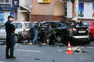 Последствия взрыва авто в центре Киева, иллюстрация