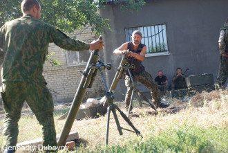 Боевики у минометов, иллюстрация