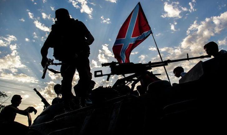 Боевики, Донбасс, Новороссия, окопы