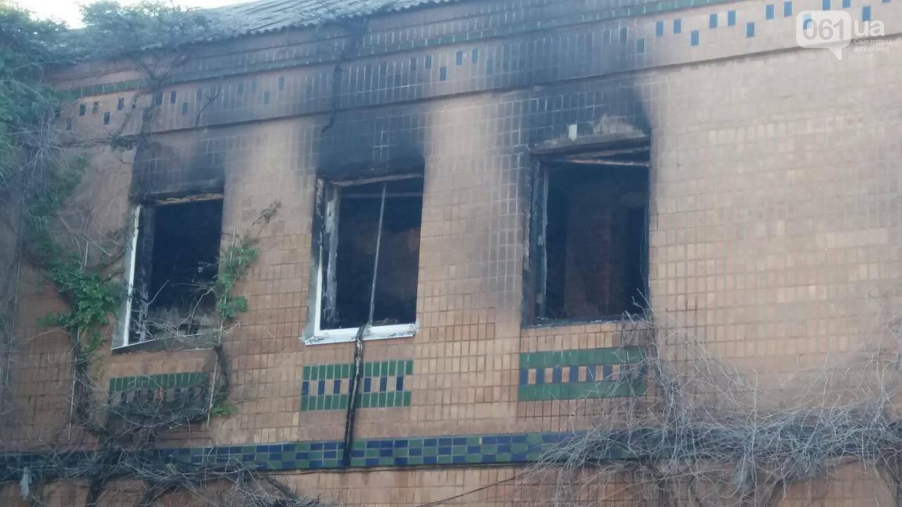 Последствия пожара в хостеле