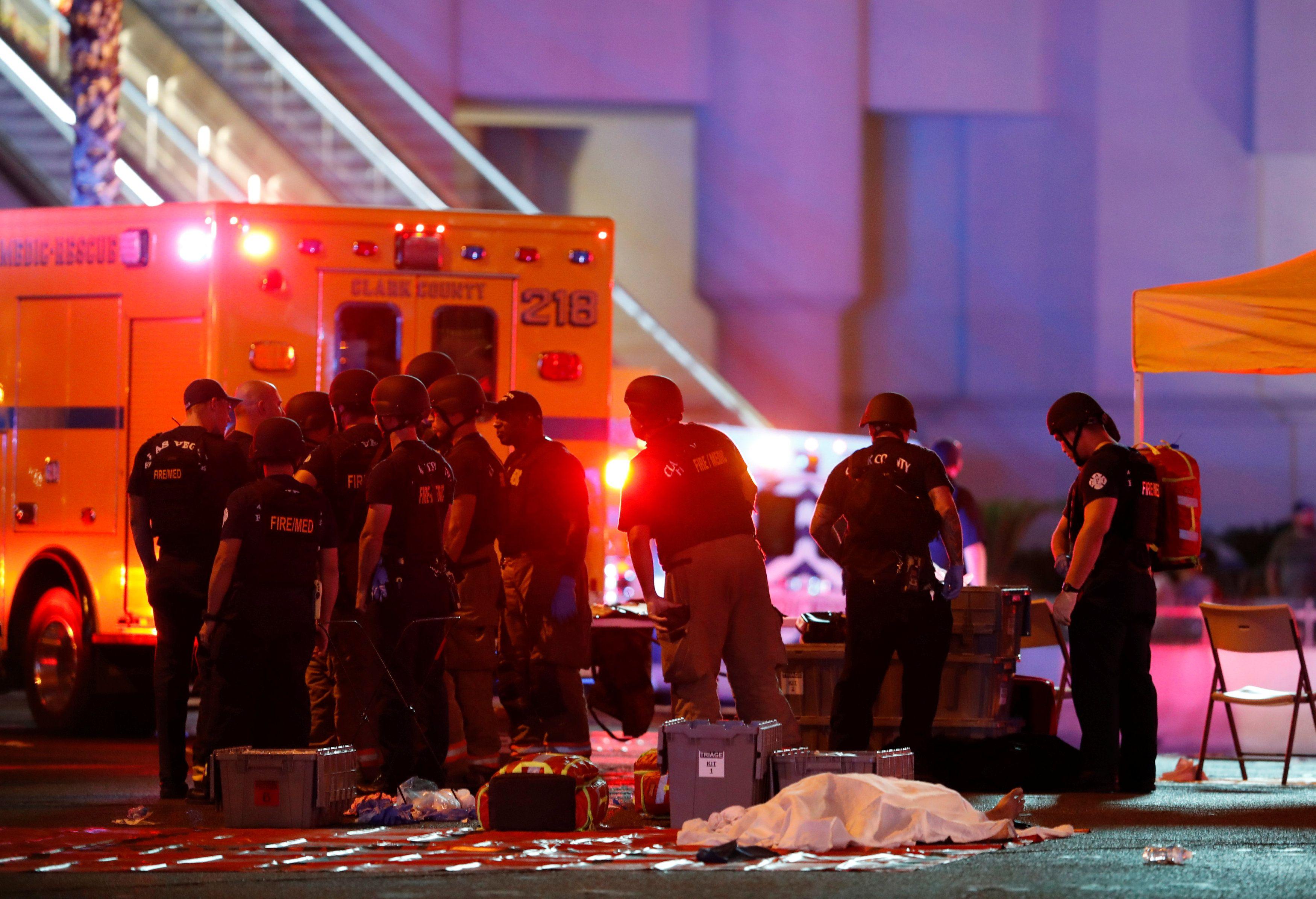 Место трагедии в Лас-Вегасе