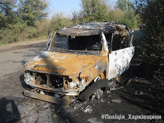 На Харьковщине из гранатомета обстреляли джип