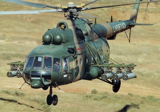 Вертолет Ми-17, иллюстрация.
