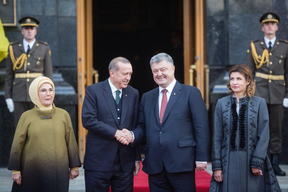 Эмине и Реджеп Тайип Эрдоган, Петр и Марина Порошенко