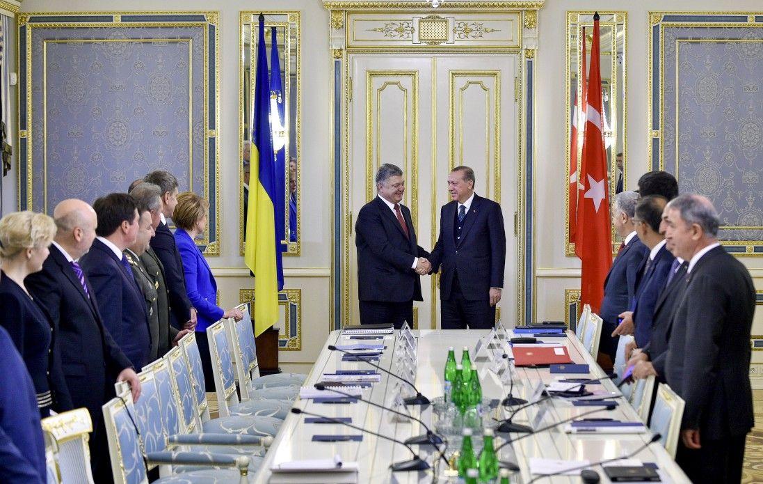 Петр Порошенко и Реджеп Тайип Эрдоган.